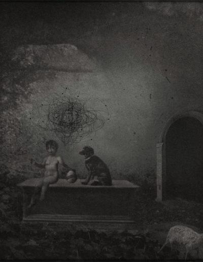 Veru Iché. El niño y el átomo<br/>Collage