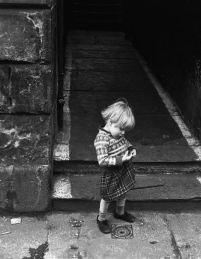 A doorway in Gorbals, Glasgow, 1968<br/>
