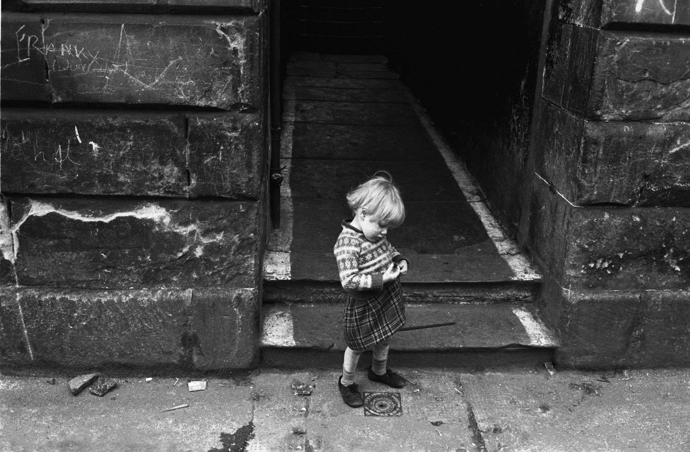 A doorway in Gorbals, Glasgow, 1968<br/>