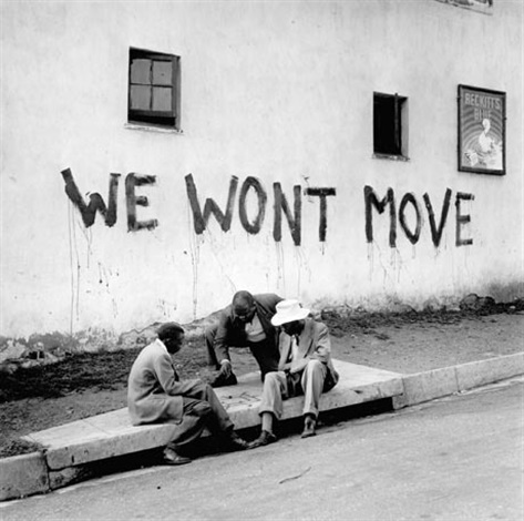 W won't move, Sophiatown, 1955<br/>