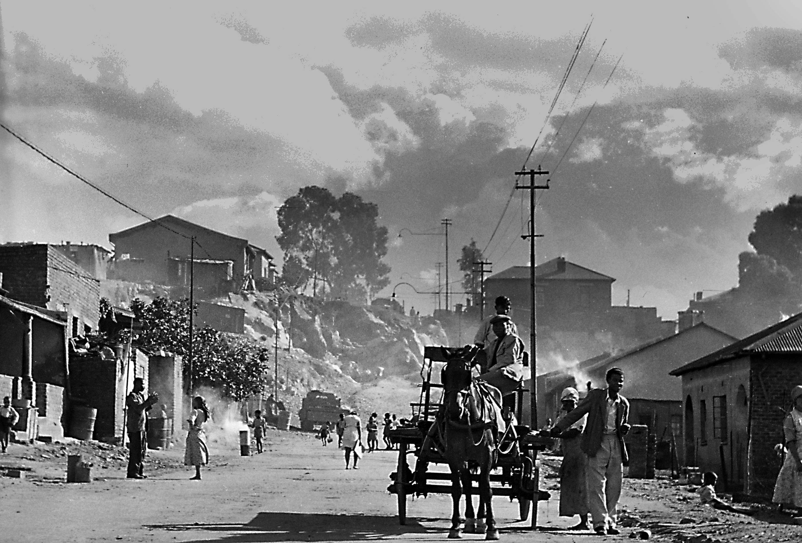 Sophiatown scene, Johannesburg, 1951<br/>