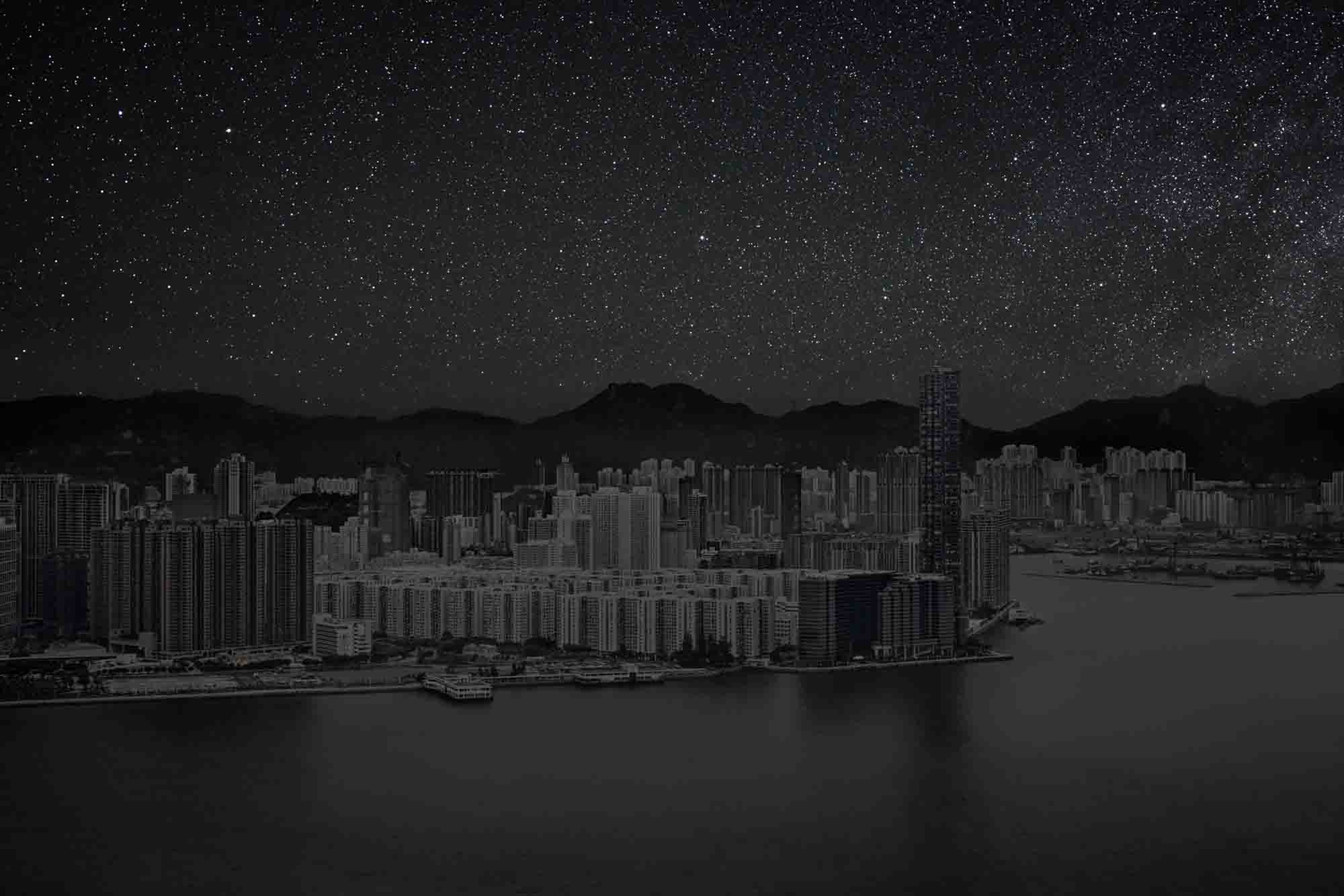 Hong Kong 22° 17' 22'' N 2012-03-23 lst 16:16<br/>Darkened Cities - Villes éteintes