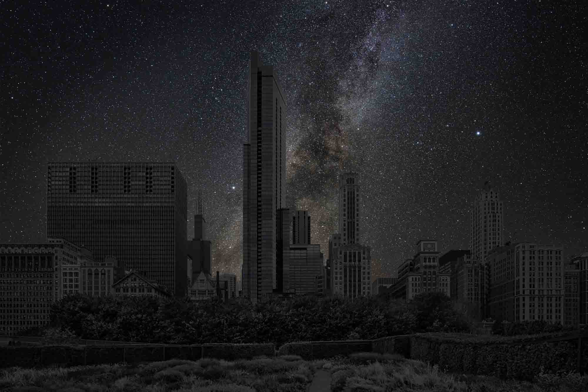 Chicago 41° 52' 54 2015-09-19  lst 0:28<br/>Darkened Cities - Villes éteintes