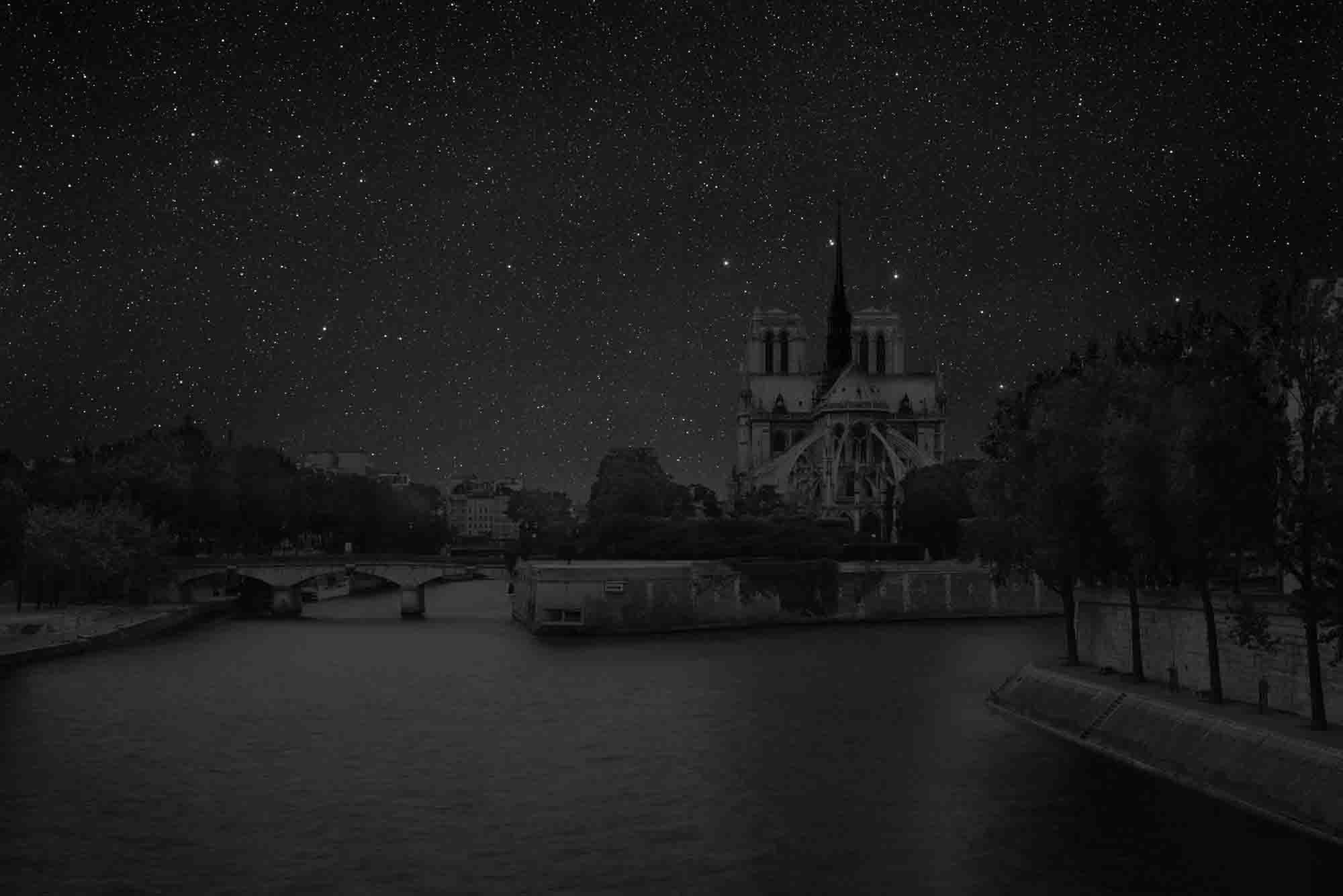 Paris 48° 51' 03'' N 2012-07-19 lst 19:46<br/>Darkened Cities - Villes éteintes