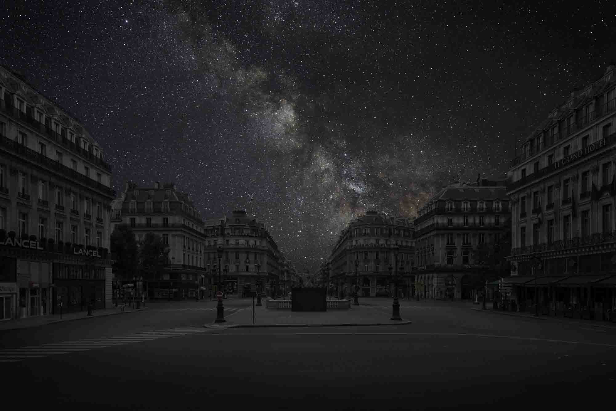 PARIS 48° 52' 16'' N  2012-06-17  LST 17:30<br/>Darkened Cities - Villes éteintes