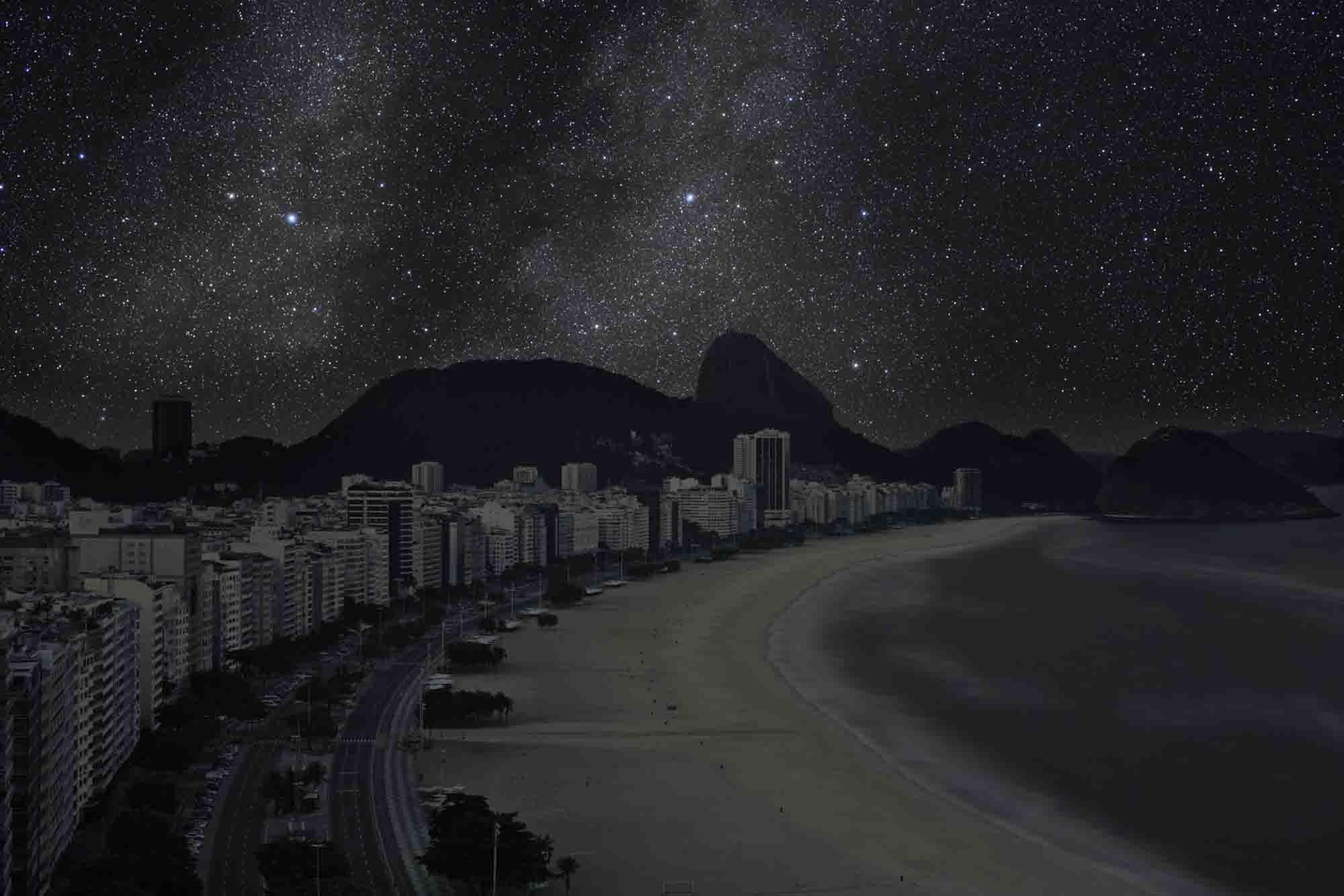 Rio de Janeiro 22° 58' 38'' S 2011-06-04 lst 15:08<br/>Darkened Cities - Villes éteintes