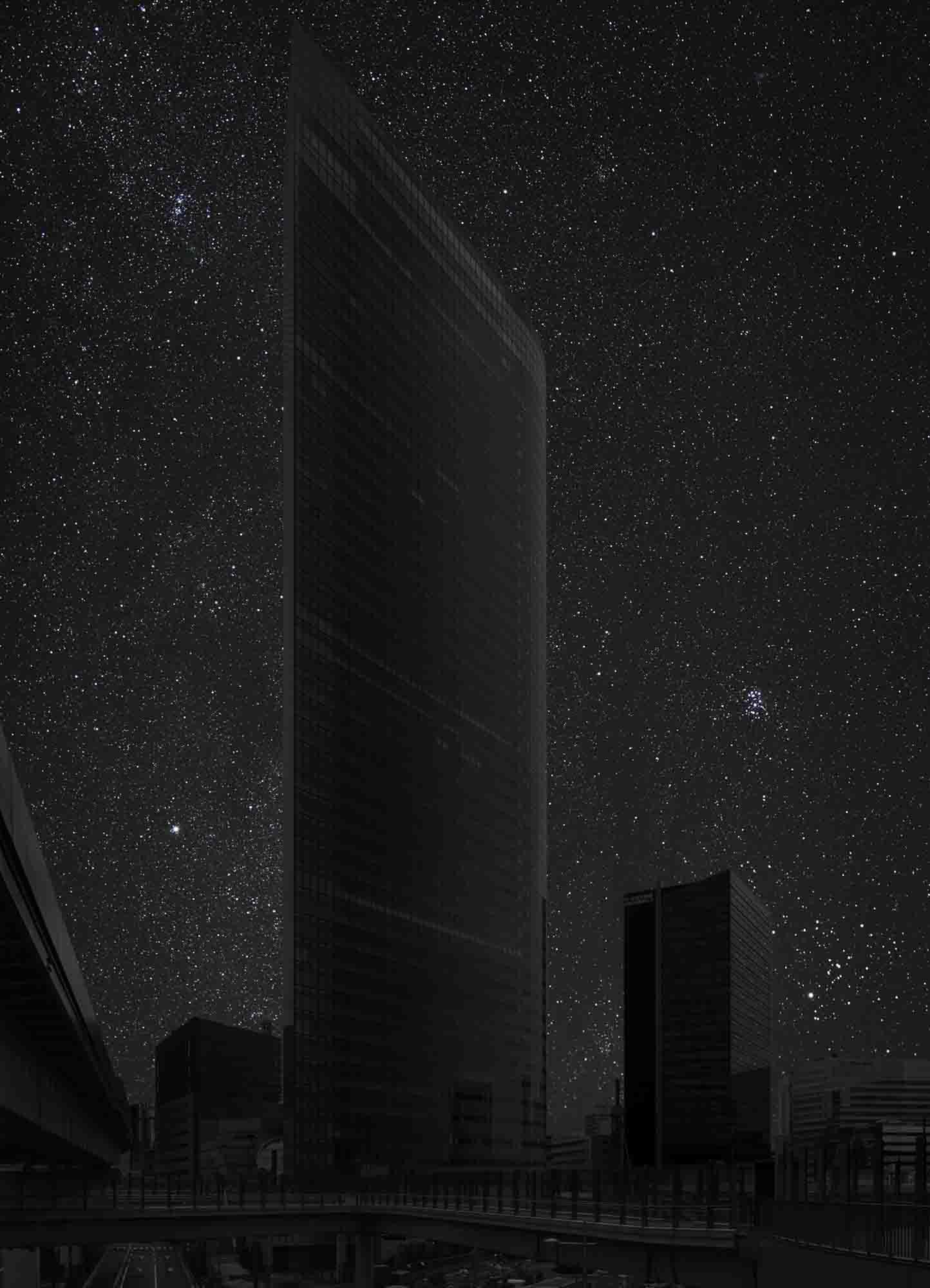 Tokyo 35° 39' 47'' N 2011-11-15 lst 22:50<br/>Darkened Cities - Villes éteintes