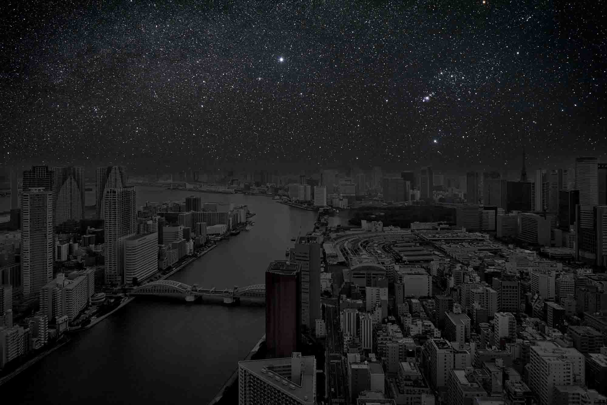 Tokyo 35° 40' 02'' N 2012-03-23 lst 10:00<br/>Darkened Cities - Villes éteintes