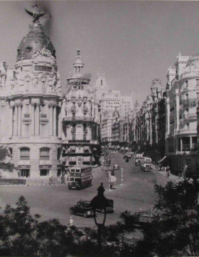 La Gran Vía de Madrid, 1950<br/>Gelatina de plata / Silver gelatin print