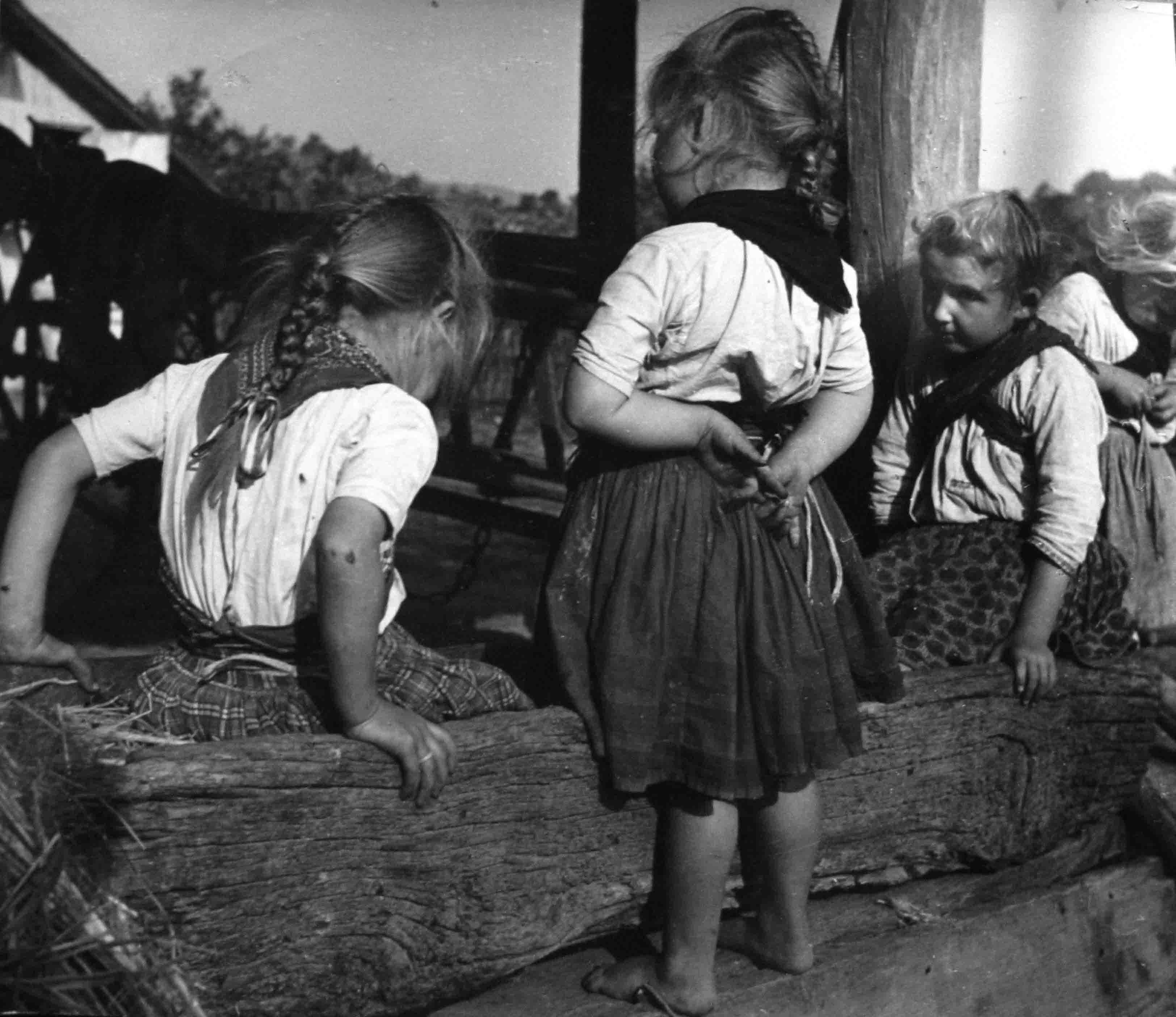 Tres niñas húngaras<br/>Gelatina de plata / Silver gelatin print