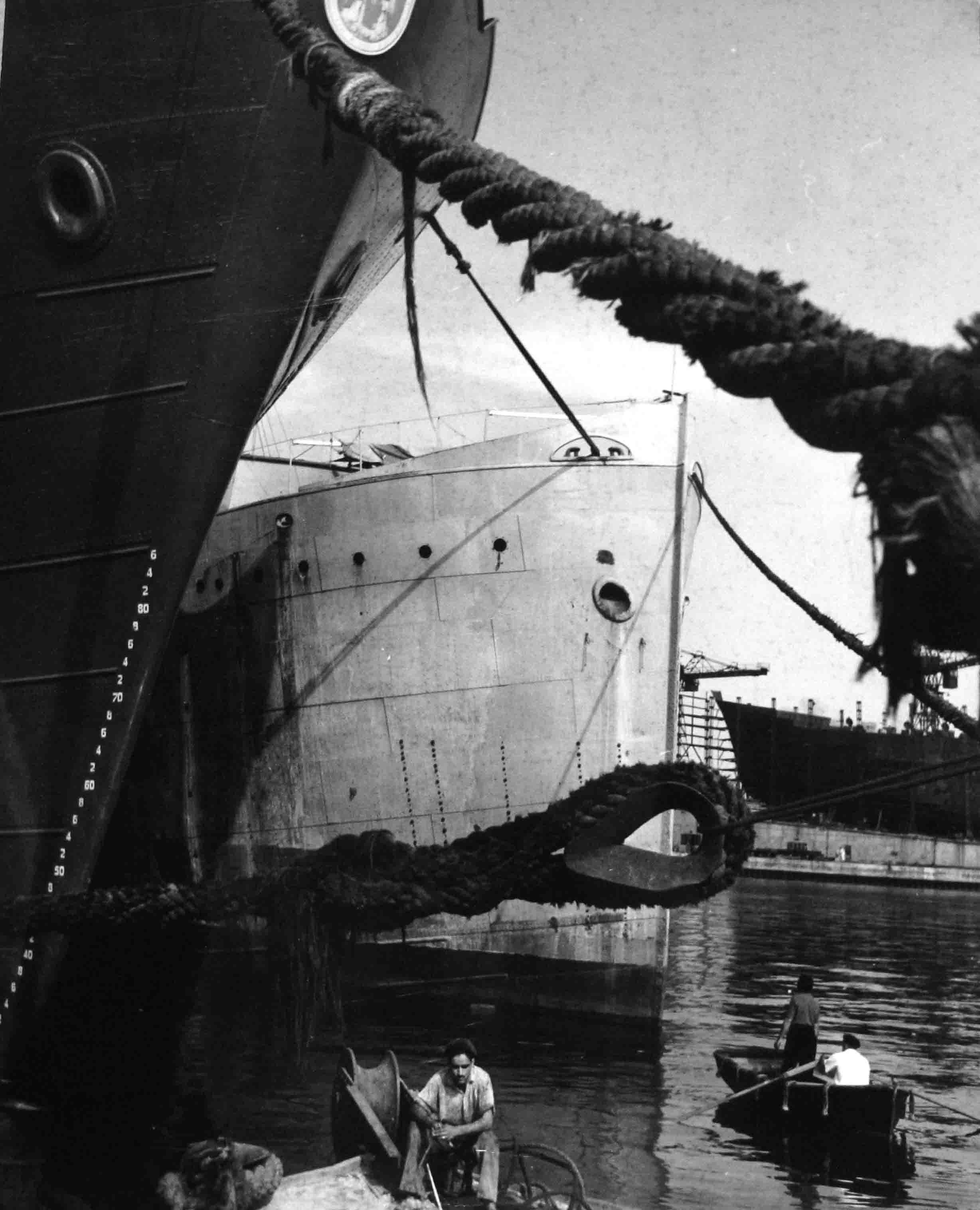 Escena puerto. Burdeos, 1942<br/>Gelatina de plata / Silver gelatin print