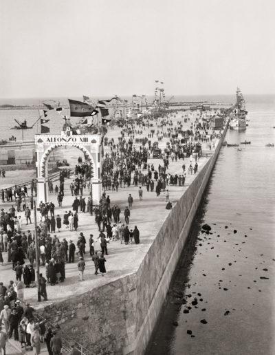 Inauguración del Muelle Alfonso XIII. Ceuta, 1928.<br/>Gelatina de plata / Silver gelatin