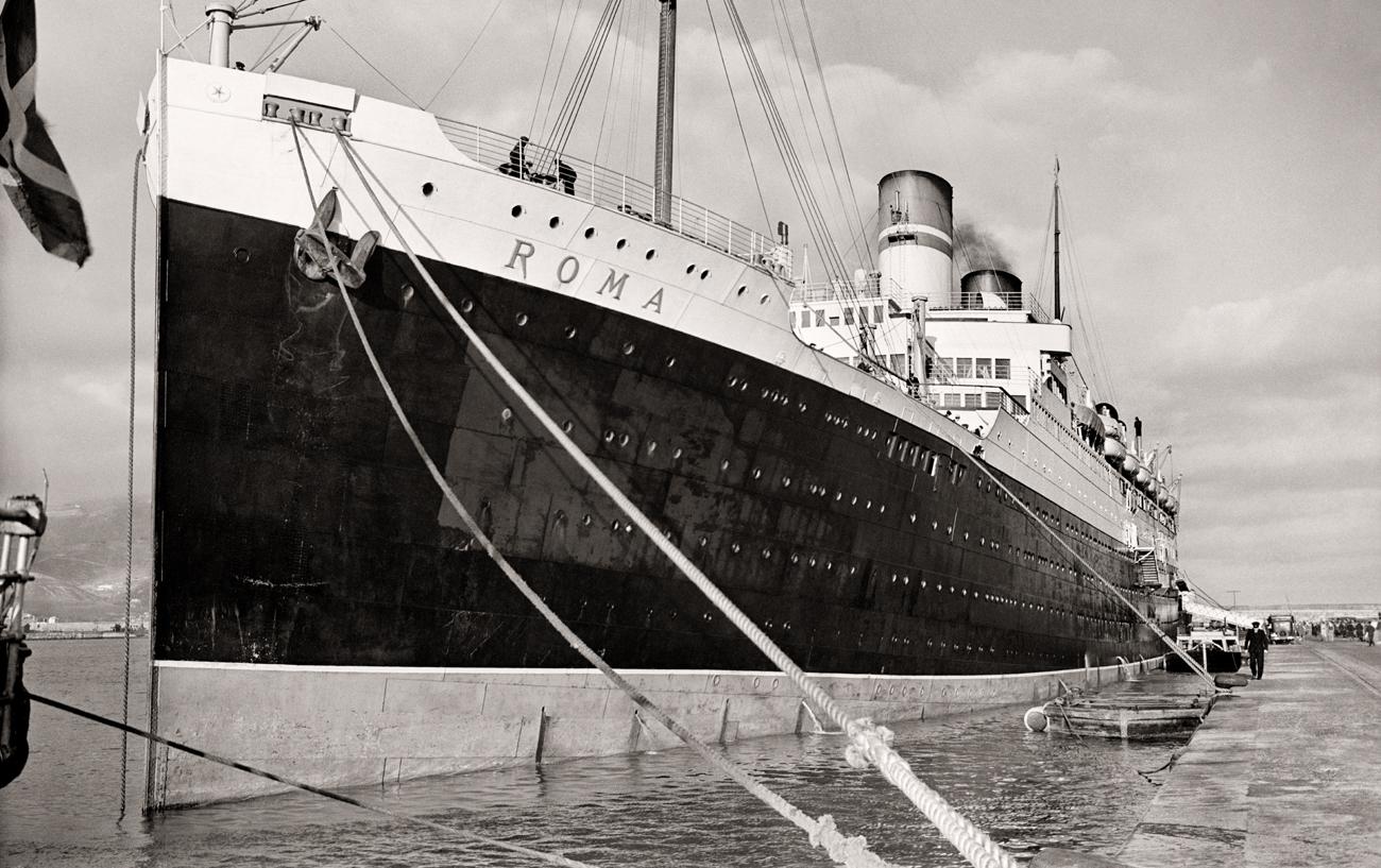 El transatlántico Roma en el puerto e Ceuta, 1924<br/>Gelatina de plata / Silver gelatin