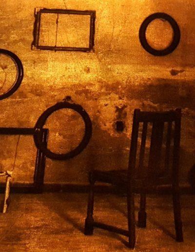 ST. Serie Jerarquías de la intimidad, 2018<br/>Película ortocromática sobre láminas de oro. 30 x 40 cm