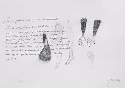 Ana DMatos. ST, Serie Palimsesto, 2016<br/>Collage sobre papel