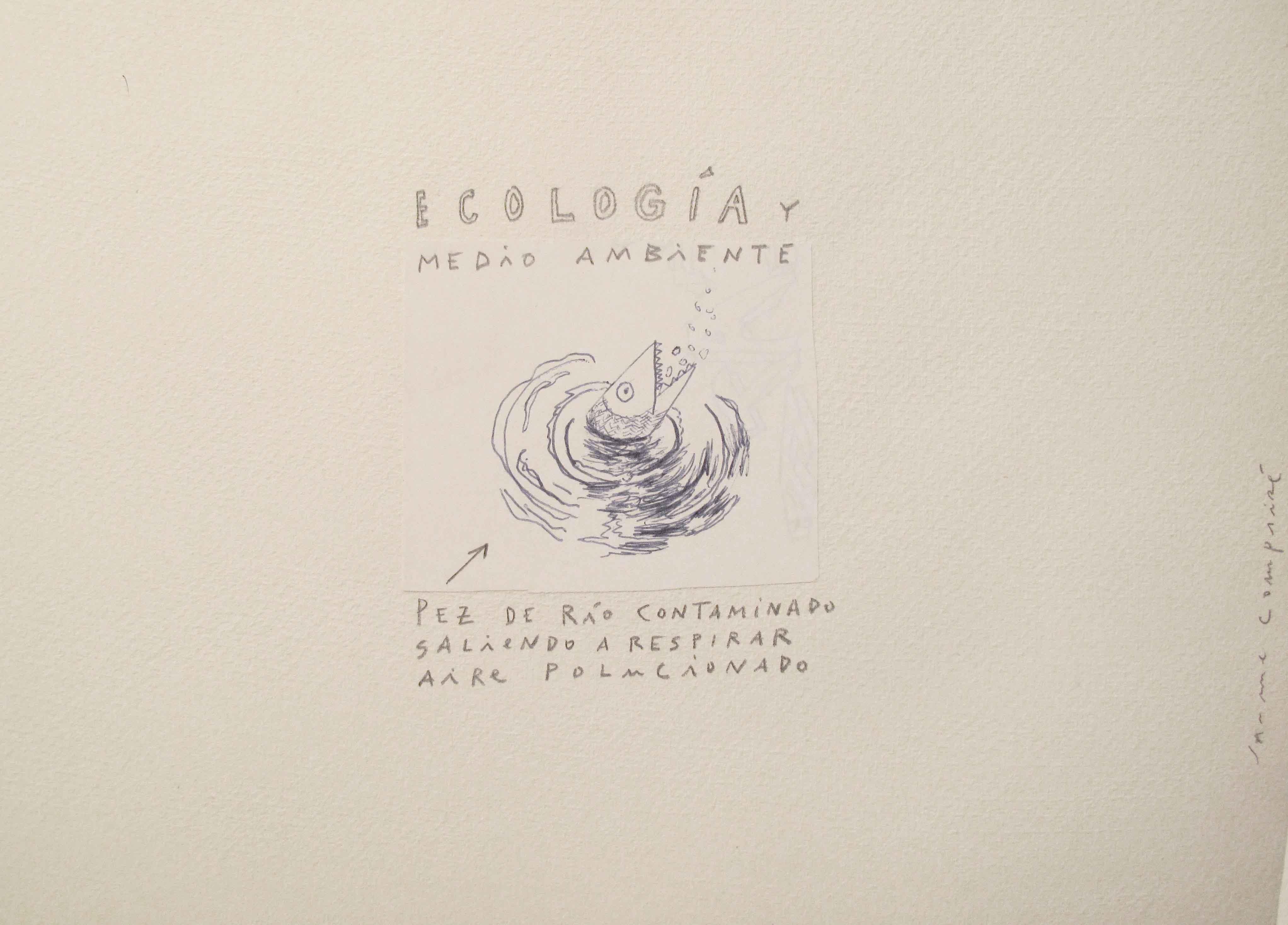 1<br/>Lápiz sobre papel, 20 x 25 cm