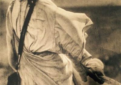 Ortiz Echagüe. Moro al viento, 1909<br/>Carbón directo (Fresson)