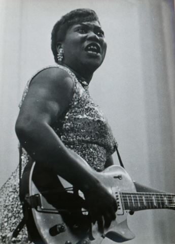 Ricard Terré. Jazz. Sister Rosetta Tarpe, 1955<br/>Gelatina de plata