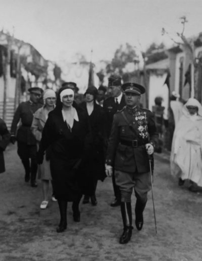 Bartolome Ros.  La Reina María de Rumanía, Tetuán 1929<br/>Gelatina de plata