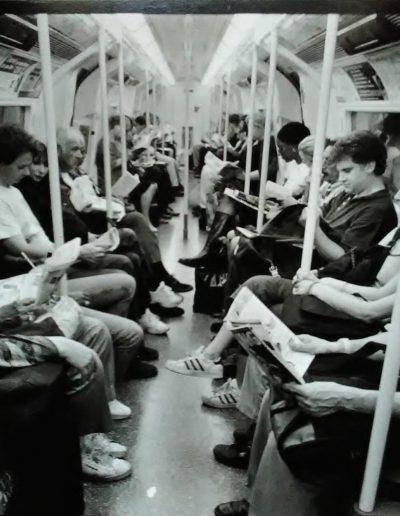 Metro Londres. Lectores, 1995<br/>Gelatina de plata / SIlver gelatin
