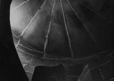 Plasencia, escalera de la catedral<br/>Gelatina al clorobromuro de plata con tratamiento de archivo al selenio / Silver gelatine with archival selenium treatment