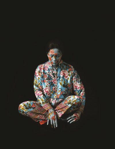 Cecilia Paredes. Silk, 2015<br/>Impresión de tintas de pigmentos / Inkjet print.   120 x 120 cm