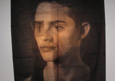 Luis González Palma. Untitled, Möbius.<br/>Impresión digital sobre papel de arroz / Inkjet print on rice paper.   210 x 210 cm