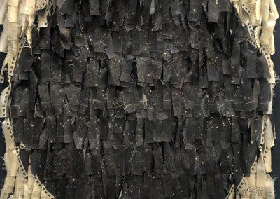 Cecilia Paredes. Constelación, 2021.<br/>Seda impresa y anudada / Printed and knotted silk