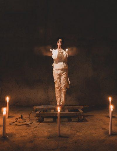 Cecilia Paredes. El ritual, 2021.<br/>Caja de luz / Light box