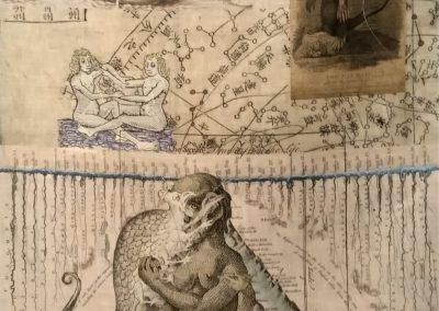 Cecilia Paredes. Oh Ulises<br/>Impresión sobre lino natural bordado
