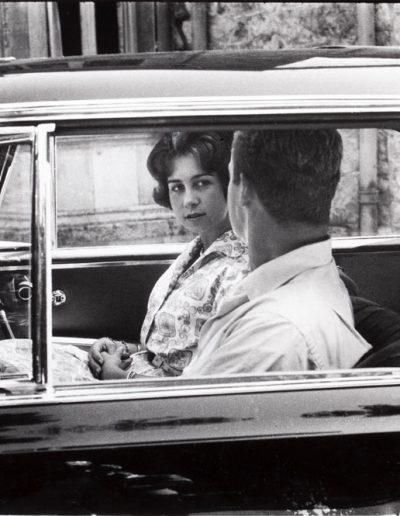 FRancisco Ontañón. Sofía de Grecia y Juan Carlos de Borbón el día del anuncio de su compromiso. Atenas, 1961<br/>Gelatina de plata sobre papel baritado / Gelatin silver on baryta paper