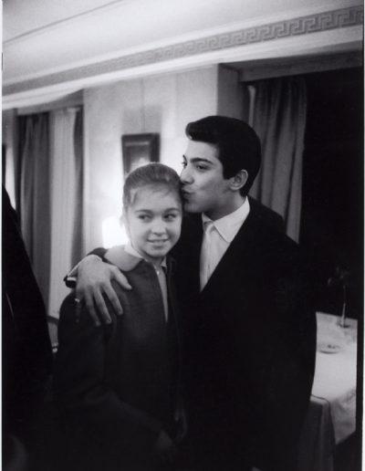 Francisco Ontañón. Paul Anka y Marisol en Hispavox. Madrid, 1962<br/>Gelatina de plata sobre papel baritado / Gelatin silver on baryta paper
