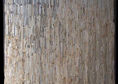 Cecilia Paredes. Orfeo, 2020<br/>Lino y seda cosida / Sewn linen and silk